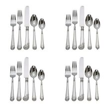 Reed & Barton Colonial Williamsburg Gloucester Shell Stainless 20pc. Set