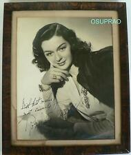 ROSALIND RUSSELL - INSCRIBED PHOTOGRAPH AUTOGRAPH SIGNED - FRAMED UNDER GLASS