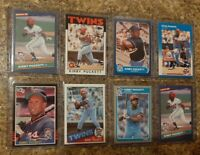 (8) Kirby Puckett 1985 1986 Donruss Fleer Topps Rookie 2nd Card Lot RC Twins HOF