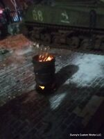 1:16  scale  Diorama  !! Flickering Burn Barrels !!