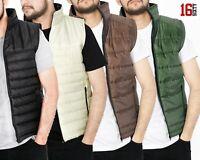 Mens Gilet Padded Full Zip Outdoor Waterproof Quilted Warm Puffer Jacket Coat
