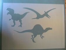Dino Set of 3 Mylar Stencil Sign Art airbrush reusable durable #45