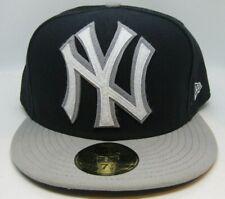 New York Yankees New Era 59Fifty Navy/Gray Large Felt Logo Size 8 Hat Cap