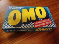 "Ancien paquet Boite de LESSIVE "" OMO "" NEUF ANCIEN STOCK 60'S produit ménager"