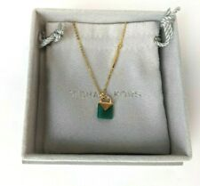 Michael Kors 14k Gold Plated Sterling Silver Emerald Padlock Necklace Mkc1039aj