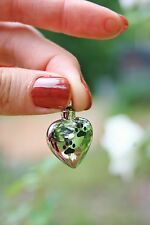Cremation Jewelry Pendant Urn for Ash Paw Print Heart Pet Dog Cat Memorial Gift