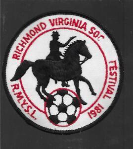 RIchmond Virginia Vintage Patch - 1981 RMYSL Soccer Festival