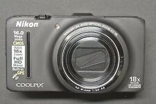Nikon Coolpix S9300 16.0MP 3''Screen WIDE18x Zoom Digital Camera BLACK