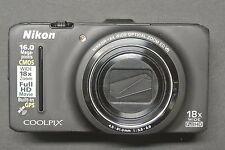 Nikon Coolpix S9300 16.0MP 3''Screen WIDE18x Zoom Digital Camera BLACK