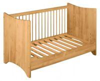 BioKinder Emma Babybett Kinderbett Gitterbett mit Bettseite umbaubar 70x140