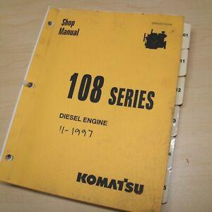 Komatsu 108 Series Diesel Engine Repair Shop Service Manual crawler