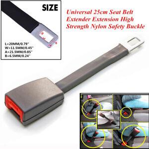 1PCS 25cm Car Seat Seatbelt Extender Buckle Gray E4 Safety Certified Universal