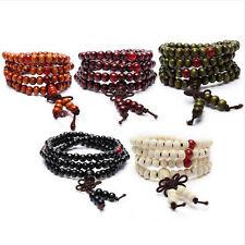 Buddhist Sandalwood Meditation 6mm*108 PRAYER Bead Buddha Mala Bracelet Necklace