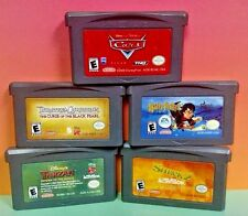 5 Disney Games: Pirates, Cars, Potter, Tarzan, Shrek 2 Nintendo Game Boy Advance