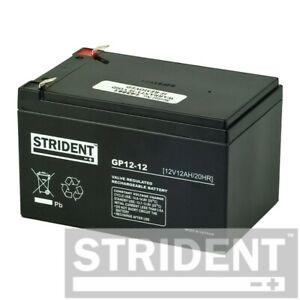 Pair of Strident 12ah 12v Batteries, for Kymco Mini Strider & Shoprider Cameo