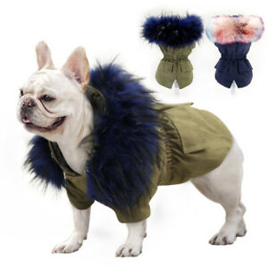 Luxury Small Dog Winter Coat Chihuahua Clothes Hoodie Warm Jacket & Fur Collar