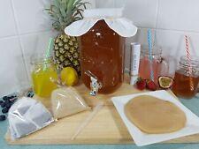 3.5lt Kombucha Brew Kit, Starter Tea, Organic Scoby, Instructions, BPA Free