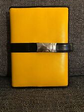 Cross Leather Organiser & Cross Pen - Compatible with Filofax - Yellow and Black