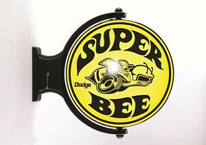 Dodge Super Bee Revolving Wall Light Black and Yellow