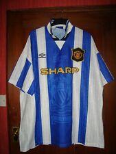 Manchester United 1994 blue & white names shirt umbro adult xxl