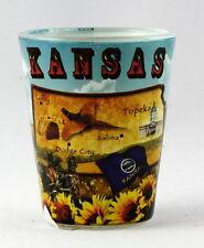 KANSAS MAP COLLAGE  SHOT GLASS RTP