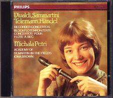 Michala PETRI VIVALDI TELEMANN SAMMARTINI HANDEL Recorder Concerto CD Iona Brown