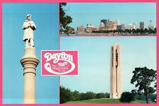 Dayton, Ohio, The Wright Place To Be, Deeds Carillon, Statue, City --- Postcard