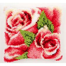 Loquet Crochet Coussin Avant Kit par Vervaco 40x40cm Inc Outil-roses roses!