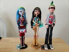 Lot of 3 Wave 1 Monster High Dolls Complete with Pets