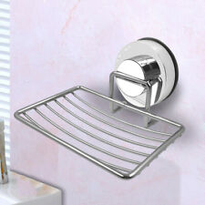 Kitchen Bathroom Soap Dish Tray Water Draining Holder Suction Cup Rack Shelf Kit