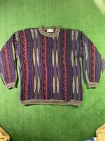 VTG 90s COOGI Style 3D Megalos Sweater Cosby Hip Hop Biggie Notorious B.I.G. 2XL