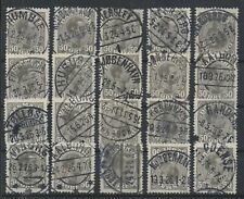 C-535 Denmark 1925 Town and village cancellations for postal history exhibition