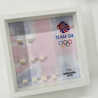 Display Frame for Lego Team GB 8909 Olympics minifigures no figures 27cm