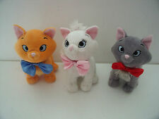 "ARISTOCATS BERLIOZ, TOULOUSE, MARIE KITTENS 7"" SOFT TOYS/DISNEY   - RARE"