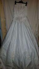 VINTAGE ?  WEDDING / BRIDESMAID DRESS SINCERITY BRIDAL STRAPLESS BEADS TRAIN 32C