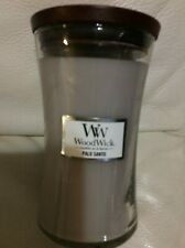 Woodwick Palo Santo Large Candle 21.5oz New Free Ship Hourglass Yankee Gray