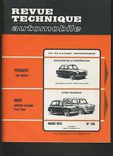(30A) REVUE TECHNIQUE AUTOMOBILE MINI BRITISH LEYLAND / 204/ CITROEN CX 2000