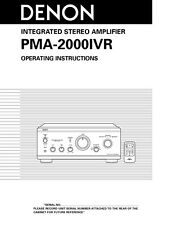 Denon PMA-2000IVR Amplifier Owners Manual