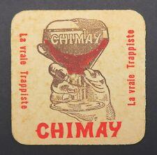 Ancien sous-bock bière CHIMAY trappiste coaster Bierdeckel 9