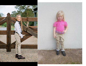 HH Equestrian Australia*Kids Riding Jodphurs*Suede Knees*BEIGE*Toddlers Upwards