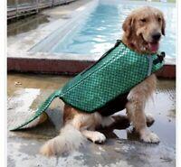 Dog Life Jacket Green Mermaid For Dogs Size Small Reflective Green DogLemi New