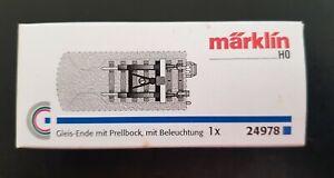 Märklin 24978 C Track End with Bumper and Lantern - NEW in box