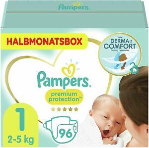 Pampers Pannolini per neonati, taglia 1, 2-5 kg, protezione premium 96
