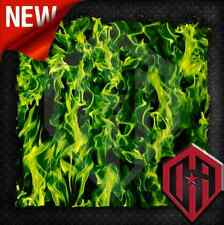Hydrographic Water Transfer Hydrodipping Film Hydro Dip Green Flame Real Fire
