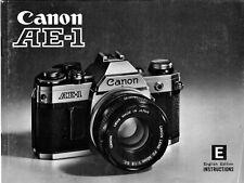 CANON AE1 mode d'emploi _ en anglais