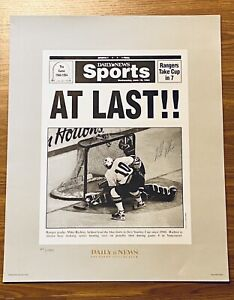 """MIKE RICHTER 1994 NY RANGERS Championship Signed, Numbered, Unframed 16"""" X 20"""""""