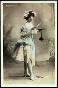 "Paris, France c.1905 - Moulin Rouge Dancer  ""GERAD"" - WALERY Studio"