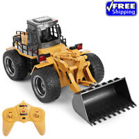 HUINA 1520 1:18 2.4GHz 6CH RC Alloy Excavator Truck Car Construction Vehicle Toy