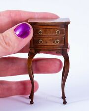 Dollhouse Miniatures Handcrafted & Signed Tall Side Table w/ Nice Painted Finish