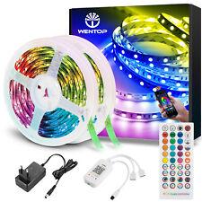 Bluetooth RGB LED Streifen Band Licht LED Stripe Musik Fernbedienung 10m-30m